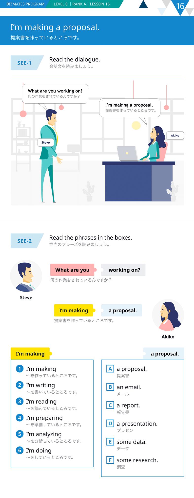 """Bizmates新教材""""Level0""""の学習の流れ①""""see"""""""